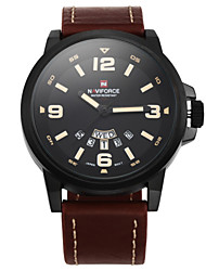 cheap -Men's Quartz Wrist Watch / Military Watch Water Resistant / Water Proof Leather Band Charm Black
