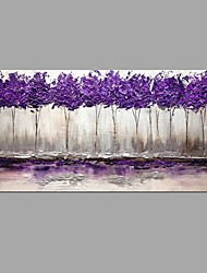 Large Size Hand Painted Modern Abstract Art Purple Tree Landscape Oil Paintings On Canvas With Stretched Frame Ready To Hang