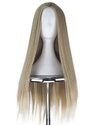 cheap -Synthetic 80cm Men Unisex Adult Thranduil Long Straight Hair Ash Blonde Color Fashion Movie Cosplay Costume Wig for Halloween Party