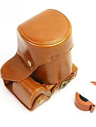 Dengpin PU Leather Camera Case Bag Cover for Sony ILCE-6500 A6500 16-70 or 18-55 lens (Assorted Colors)