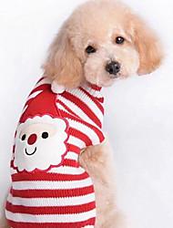 Perro Abrigos Suéteres Ropa para Perro Bonito Casual/Diario Moda Navidad Animal Rojo Disfraz Para mascotas