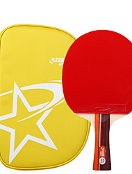 2 Stars Ping Pang/Table Tennis Rackets Ping Pang Wood Long Handle Pimples