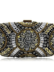 cheap -Women's Bags Polyester Evening Bag Crystal/ Rhinestone Acrylic Jewels for Wedding Event/Party Casual Formal Office & Career Winter Spring