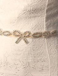 Wedding Accessories Appliqued Blossom Artificial Diamonds Handmade Manual Cutting Soft Satin Wedding Belts