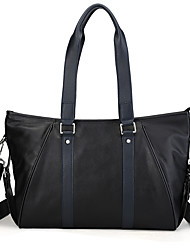 Unisex Bags All Seasons Cowhide Tote for Casual Outdoor Blue Black