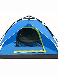 Недорогие -3-4 человека на открытом воздухе Туристические палатки Водонепроницаемость Быстровысыхающий Воздухопроницаемость Автоматический Сферическая Однокомнатная Двухслойные зонты 2000-3000 mm Палатка для