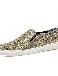 cheap -Men's Loafers & Slip-Ons Spring / Summer Comfort Casual Flat Heel Slip-on Black /Blue/ Sliver /Gold Walking