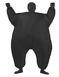 Costume Inflatable Full Body Suit Inflatable Costume Teen Chub Suit Full Body Jumpsuit Costume Black Color Masked Man Adult Large