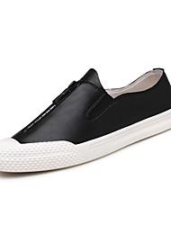 abordables -Homme Chaussures Cuir Printemps Automne Confort Basket Marche Fermeture pour Athlétique Décontracté Bureau et carrière Blanc Noir Gris