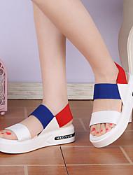 Women's Sandals Spring Summer Comfort Color Block All Macth Fashion Flange Dress Casual Platform Gore