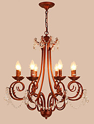 LightMyself 8 Lights Chandelier Modern/Contemporary Traditional/Lodge Vintage Retro Country Painting Feature for Crystal Metal Living Room