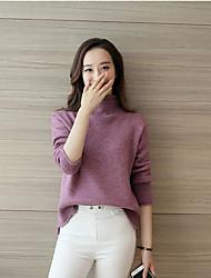 Ample Robe Femme SortieCouleur Pleine Col Arrondi Mini Manches ¾ Laine Eté Taille Normale Micro-élastique Moyen