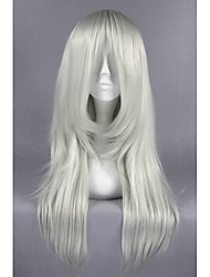 cheap -Synthetic Wig / Costume Wigs Straight Synthetic Hair Gray Wig Women's Medium Length Cosplay Wig / Halloween Wig / Carnival Wig Capless