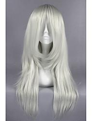 Недорогие -Парики из искусственных волос / Маскарадные парики Прямой Искусственные волосы Серый Парик Жен. Средние Без шапочки-основы