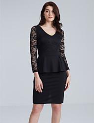 cheap -Women's Lace Plus Size / Daily / Work Street chic Bodycon Dress