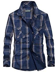 Недорогие -Муж. Рубашка для туризма и прогулок Удобный Верхняя часть для Рыбалка Весна M L XL XXL XXXL