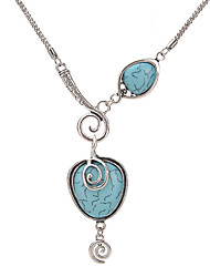 cheap -Women's Circular Unique Design Statement Necklace Turquoise Alloy Statement Necklace , Party Daily Casual