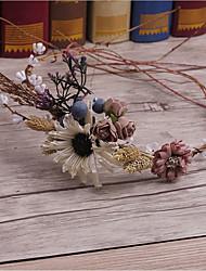 Basketwork Flax Fabric Headpiece-Wedding Special Occasion Casual Outdoor Headbands Wreaths 1 Piece