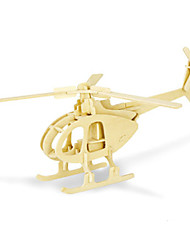 Недорогие -3D пазлы Вертолет Веселье Дерево Классика Детские Универсальные Игрушки Подарок