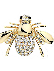 Žene Broševi Kristal Slatka Style Europska Umjetno drago kamenje Legura Pink Zlatan Jewelry Za Vjenčanje Party Rođendan Angažman Dar