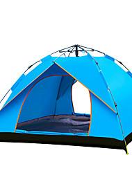 TANXIANZHE® 3-4 personnes Tente Tente de Plage Double Tente de camping Une pièce Tente automatique Résistant à l'humidité Etanche