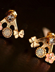 Women's Stud Earrings Drop Earrings Rhinestone Basic Unique Design Logo Style Geometric Friendship DIY Bikini Turkish Fashion Gothic