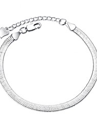 Women's Chain Bracelet Fashion Silver Plated Line Silver Jewelry For Wedding Party Special Occasion Gift Christmas Gifts 1pc