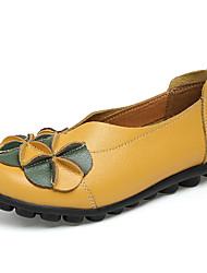 Women's Loafers & Slip-Ons Summer Fall Moccasin Comfort Light Soles  Dress Casual Low Heel Applique Split Joint Ruffles Flower