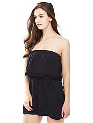 Dámské Lehce elastické Bavlna Kombinézy Sexy Bez rukávů
