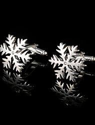 cheap -Mens Jewelry Sliver Snowflake Flower Cufflinks Men's Gift Jewelry Cuffs Buttons Men Shirt Cuff links Fashion Accessories