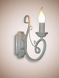 preiswerte -E12 / e14 Kerze Lampe Nachttisch Lampe Wandleuchte Eisen Korridor kreative pastorale Spiegel Lampe