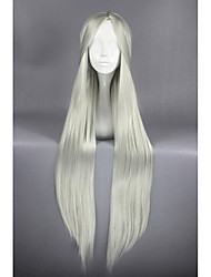 cheap -Women Synthetic Wig Long Straight Silver Cosplay Wig Halloween Wig Carnival Wig Costume Wig