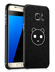 preiswerte -Hülle Für Samsung Galaxy Stoßresistent Muster Geprägt Rückseite Cartoon Design Weich TPU für S7 S6