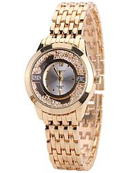 Mulheres Relógio de Moda Relógio Casual Relógios Femininos com Cristais Quartzo Lega Banda Legal Casual Criativo Dourada