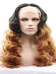 cheap -Beauty Town Hand Tied Platinum color High Temperature Fiber Hair Long Wavy Heat Resistant Glueless Synthetic Lace Front wigs