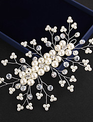 Crystal Imitation Pearl Tiaras Headbands Flowers Head Chain Headpiece