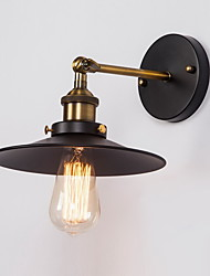 E27 220V 26*15*12CM 5-10㎡ Creative Nordic Light Single Head Black Umbrella Wall Lamp Restoring Ancient Ways Light LED