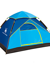 abordables -4 persona Tiendas de Campaña para Senderismo Solo Automático Domótica Carpa para camping Al aire libre Impermeable, Resistente a la lluvia, Resistente al Viento para Senderismo / Camping Fibra de