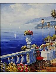Handgemalte Landschaft Panorama,Modern Klassisch Ein Panel Leinwand Hang-Ölgemälde For Haus Dekoration