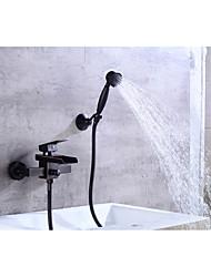 economico -Rubinetto vasca - Moderno Bronzo lucidato Installazione centrale Valvola in ceramica