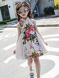 cheap -Kids Girls' Floral Solid Colored / Floral Sleeveless Dress