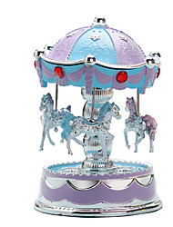 cheap -Music Box Toys Cute Lighting Sphere Carousel Merry Go Round Plastic Pieces Unisex Gift