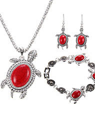 cheap -Women's Jewelry Set Turquoise Luxury Unique Design Logo Style Dangling Style Animal Design Multi-ways Wear Simple Style Special Occasion