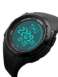 cheap -SKMEI 1232 Men's Woman Watch Double Significant Outdoor Sports Watch Mountain Climbing Waterproof Electronic Compas Male LCD Students Multi - Function
