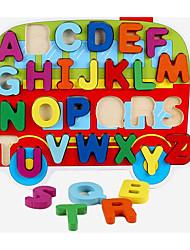 baratos -Blocos de Construir / Jogos de Madeira / Brinquedos Matemáticos Ônibus Fun & Whimsical Para Meninos Dom