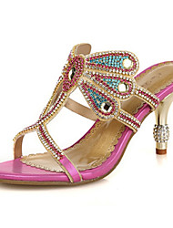 economico -Da donna-Sandali-Matrimonio Formale Serata e festa-Comoda Innovativo Con cinghia Club Shoes-A stiletto-Di pelle Microfibra-