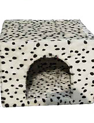 cheap -Cat Dog Bed Pet Baskets Polka Dots Soft White For Pets