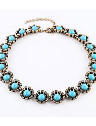 Недорогие -Жен. Ожерелья-цепочки - На заказ, Мода Светло-синий Ожерелье Бижутерия Назначение Новогодние подарки, Для вечеринок, Спасибо