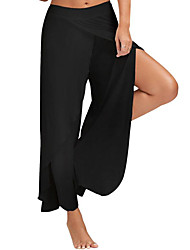 Women's High Rise Chinos Pants,Simple Wide Leg Pure Color Solid