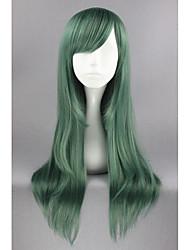 abordables -Mujer Pelucas sintéticas Medio Corte Recto Verde Peluca de cosplay Pelucas para Disfraz